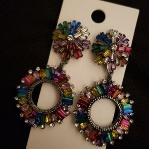 Express multi color earrings